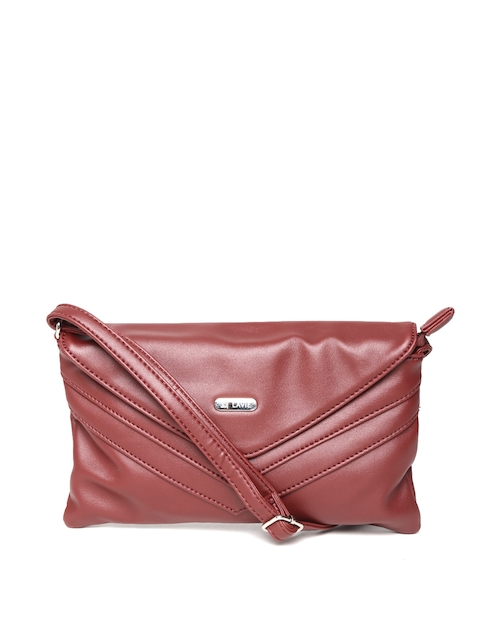 Lavie Maroon Sling Bag  available at myntra for Rs.930