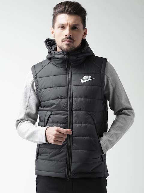 Nike Black Padded Hooded Jacket