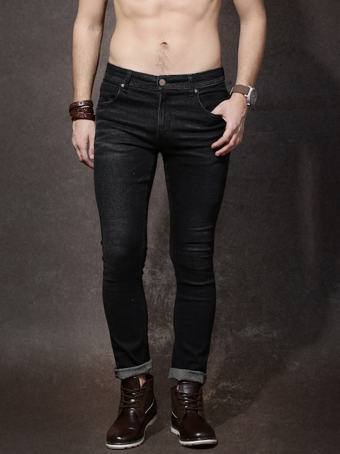 Roadster Men Black Mid Rise Clean Look Jeans