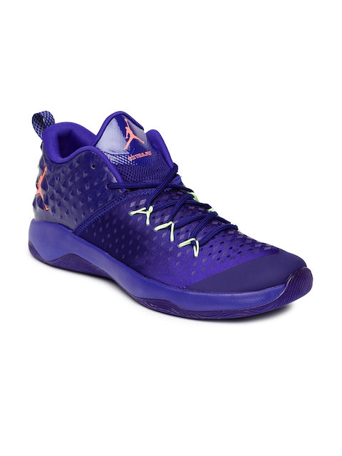 Nike Men Purple Jordan Extra Fly Basketball Shoes