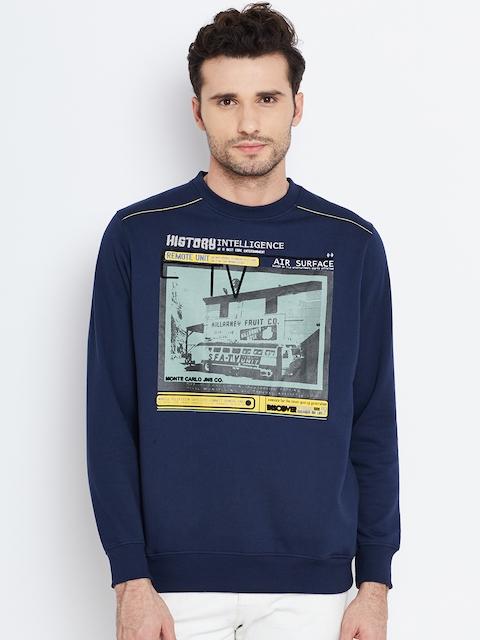 Monte Carlo Navy Printed Sweatshirt