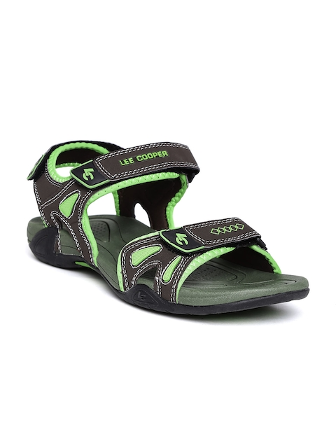 Lee Cooper Men Olive Green Sports Sandals  available at myntra for Rs.1274
