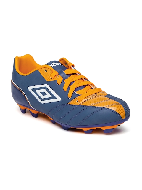 Umbro Men Navy Blue & Orange Decco Football Shoes