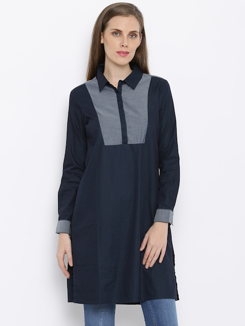 AND By Anita Dongre Navy Kurta