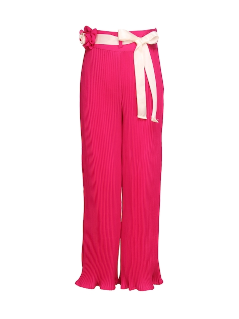 CUTECUMBER Girls Pink Regular Fit Palazzo Trousers