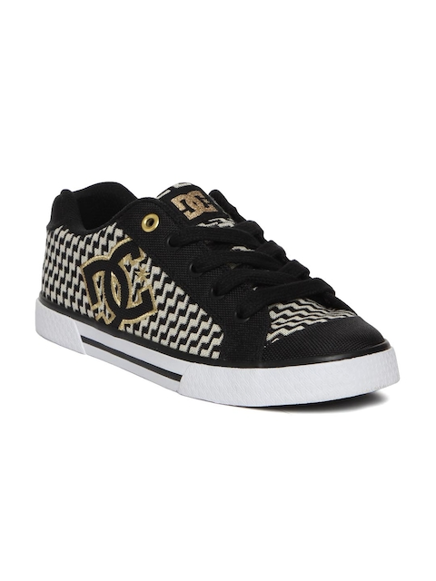 DC Women Black Woven Regular Sneakers