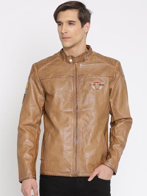 Being Human Tan Brown Biker Jacket