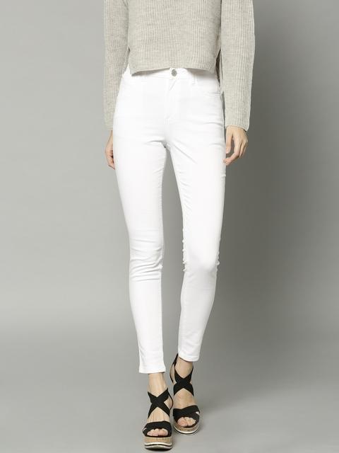 Marks & Spencer Women White Jegging Super Skinny Fit Jeans