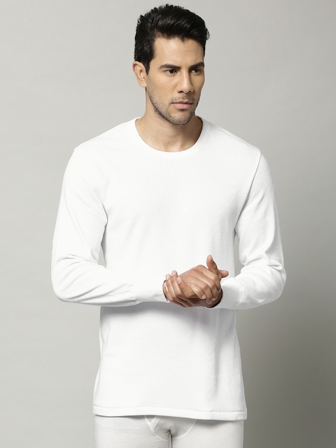 Marks & Spencer Men White Cotton Rich Thermal T-shirt 8804N
