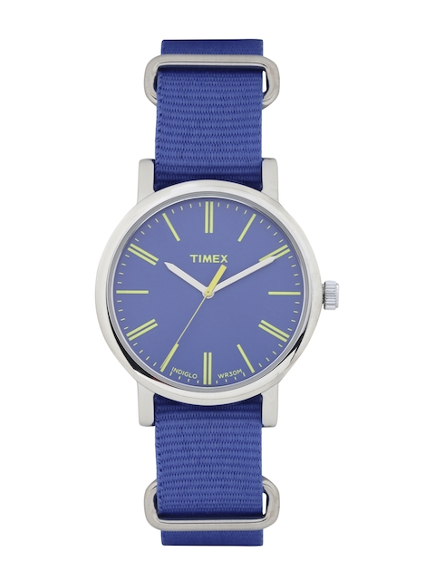 Timex Analog Blue Dial Unisex Watch, T2P362