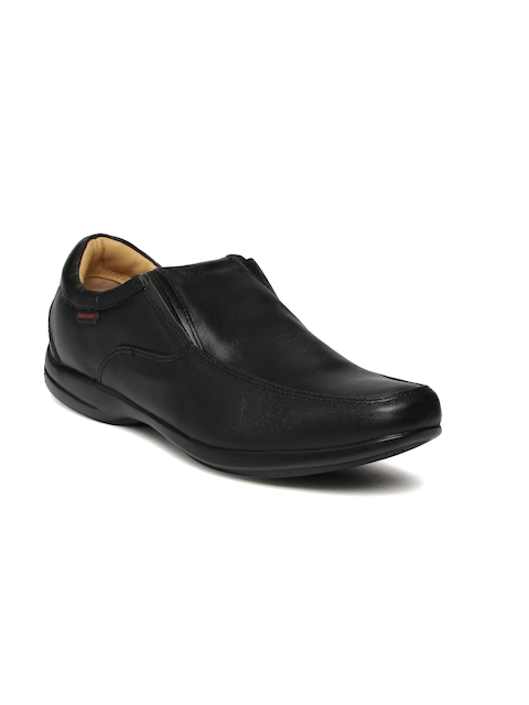 Red Chief Men Black Leather Semiformal Slip-Ons
