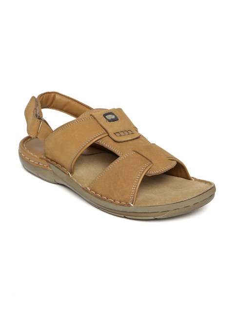 Red Chief Men Tan Brown Leather Sandals  available at myntra for Rs.1491