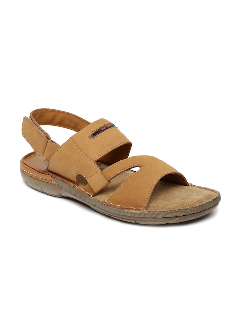 Red Chief Men Tan Brown Leather Sandals  available at myntra for Rs.1606