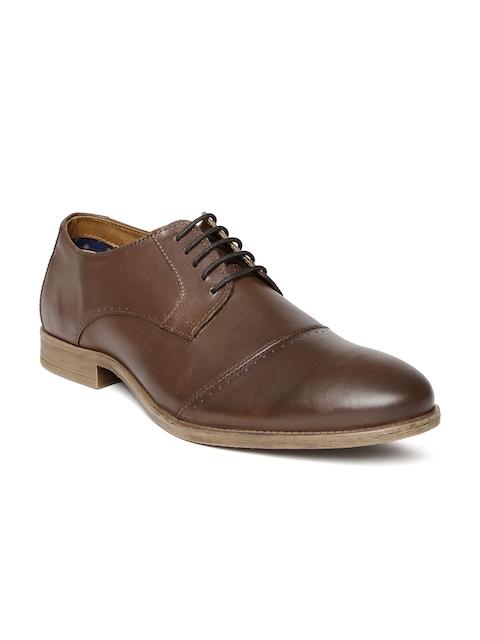 Allen Solly Men Brown Derby Shoes