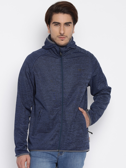 Wildcraft Navy Hooded Soft Jacket