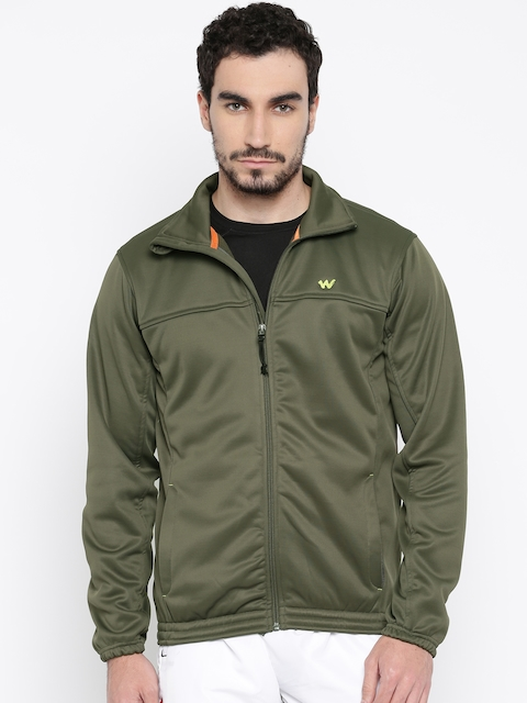 Wildcraft Olive Green Quilted Windcheater Jacket