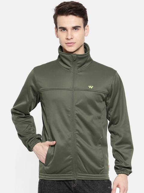 Wildcraft Olive Green Tailored Windcheater Soft Jacket