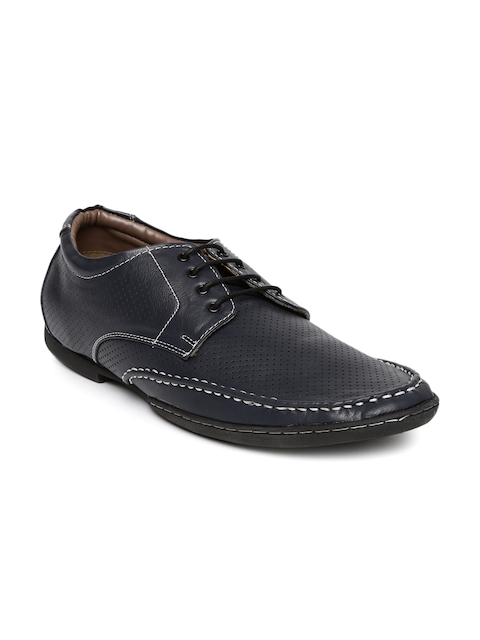 BCK by Buckaroo Men Navy Mid-Top Derby Shoes  available at myntra for Rs.688