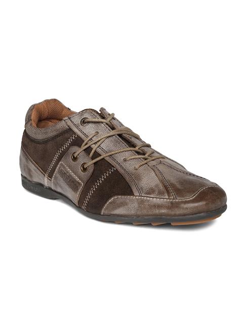 Buckaroo Men Brown Leather Sneakers