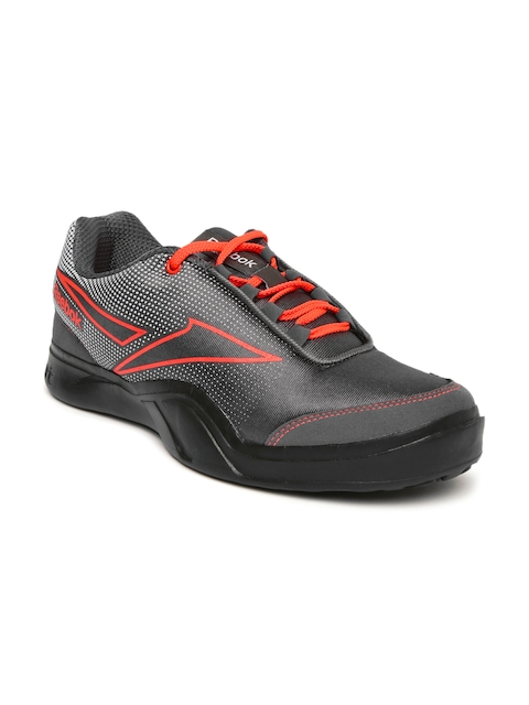 Reebok Men Charcoal Grey & White Athletic Run 2.0 Running Shoes  available at myntra for Rs.1624