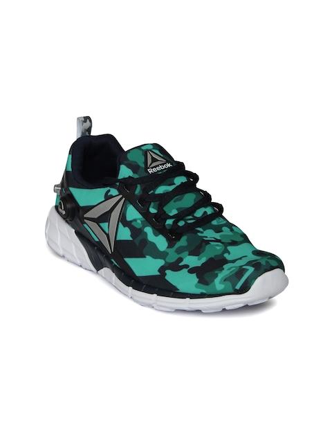 Reebok Women Green ZPUMP FUSION 2.5 Printed Running Shoes