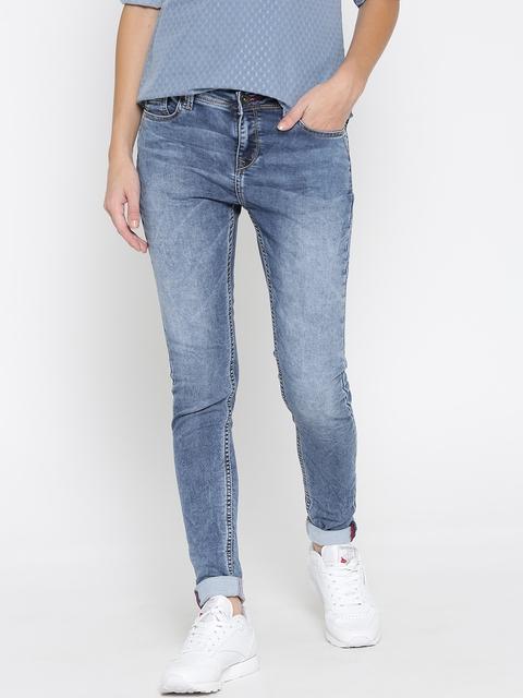 Lee Cooper Women Blue Skinny Fit Mid Rise Clean Look Jeans