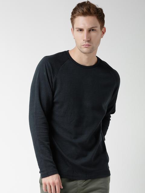 BLEND Navy Solid Sweatshirt