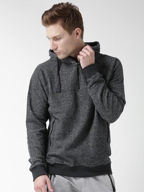 BLEND Charcoal Grey Hooded Sweatshirt