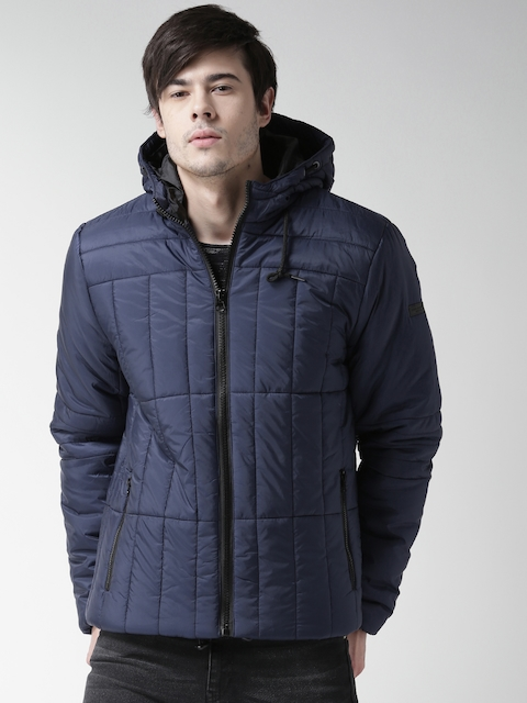 BLEND Navy Hooded Padded Jacket
