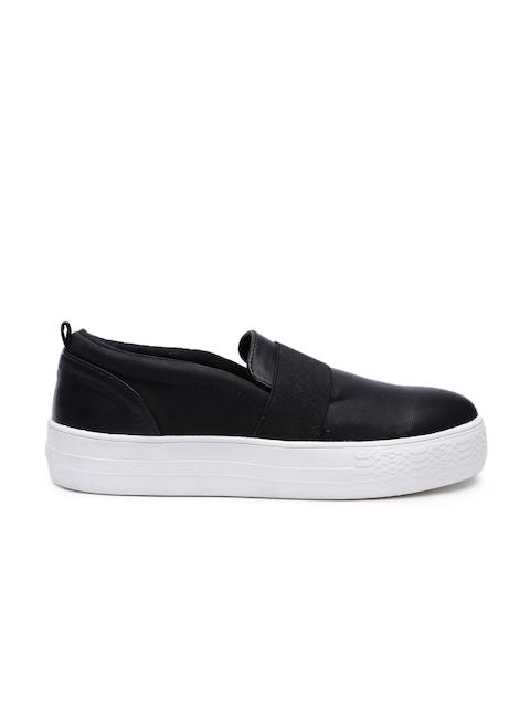 Call It Spring Men Black Slip-On Sneakers