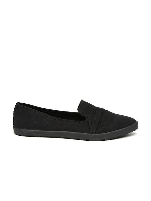 Call It Spring Women Black Solid Regular Slip-On Sneakers
