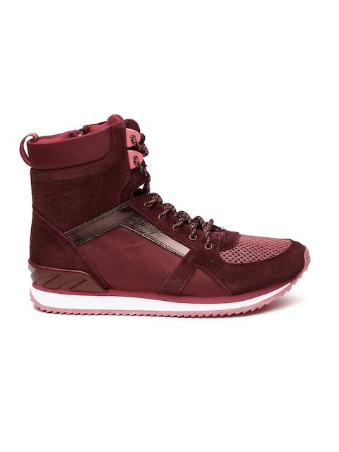 ALDO Women Burgundy High-Top Picarelli Sneakers