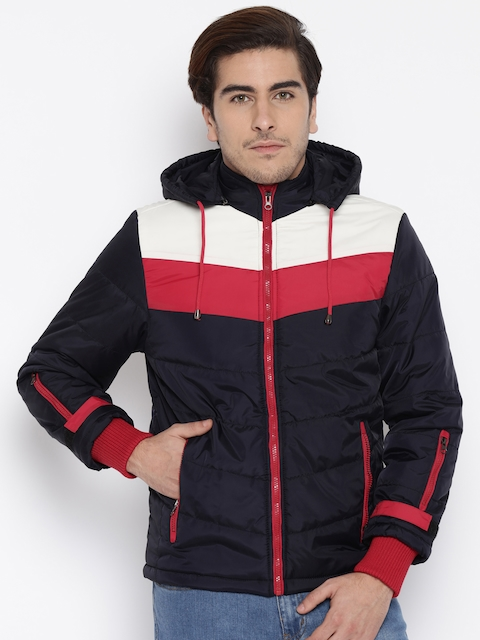 Fort Collins Navy Quilted Hooded Jacket