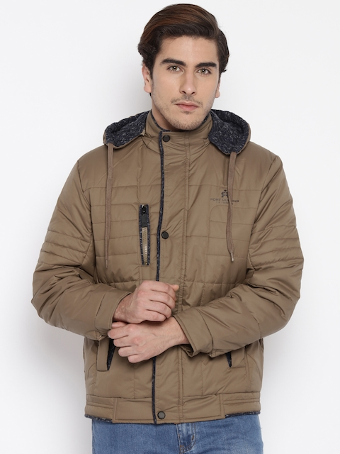 Fort Collins Brown Quilted Hooded Jacket