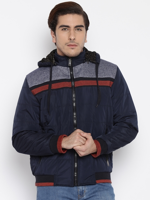 Fort Collins Navy Hooded Bomber Jacket