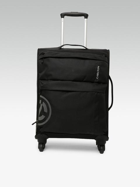 CARLTON Unisex Black Small V-Lite Spinner Case 55 Trolley Bag