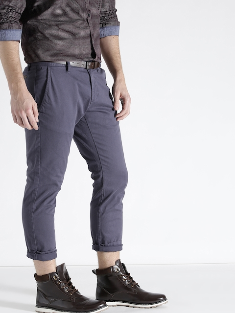 s.Oliver Men Navy Slim Fit Casual Trousers