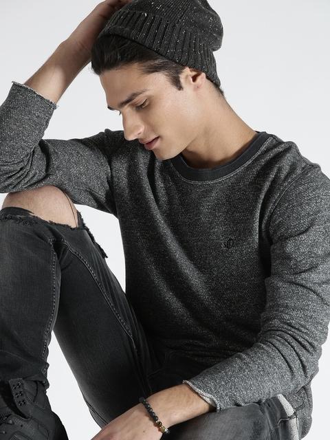 s.Oliver Grey Patterned Sweatshirt