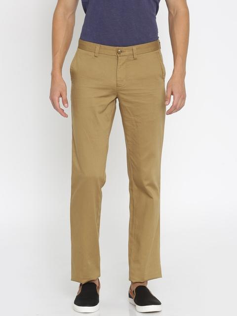 Indian Terrain Men Brown Chino Trousers