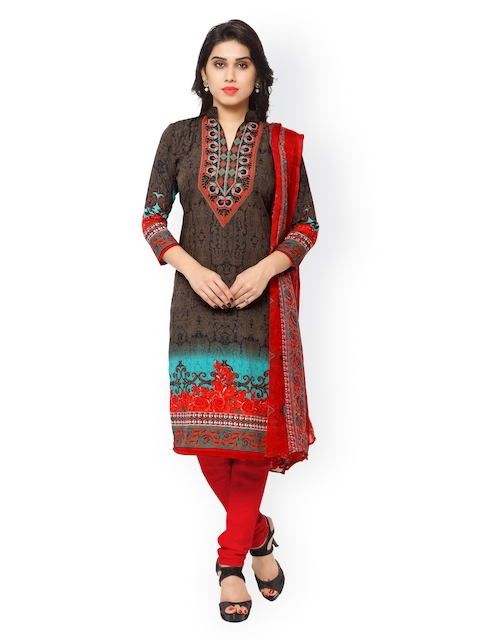 Vaamsi Multicoloured Printed Unstitched Dress Material