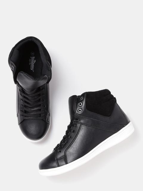 Roadster Men Black Solid Flat Boots