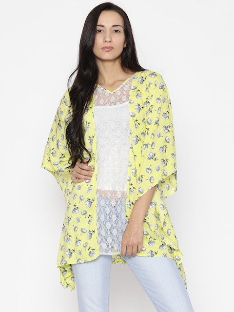 fc57bd4e74 The Kaftan Company Yellow Floral Print Kaftan Cover-Up Dress RW_PARDS022