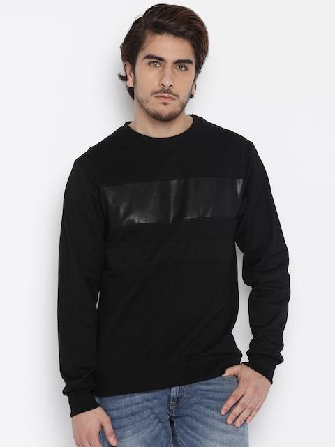 Flying Machine Men Black Sweatshirt