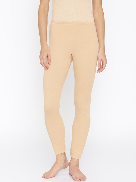Kanvin Beige Thermal Leggings