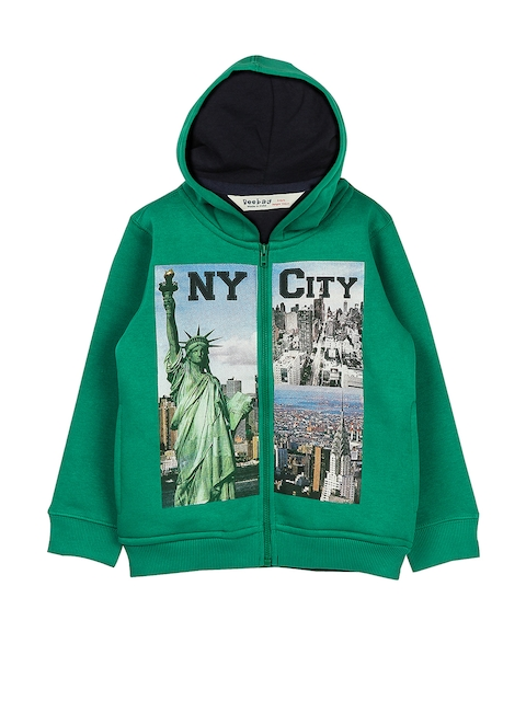 Beebay Boys Green Printed Sweatshirt