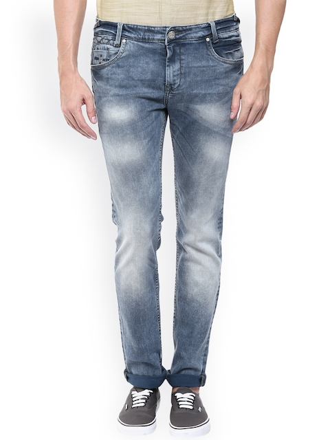 Mufti Men Grey Super Slim Fit Mid-Rise Clean Look Jeans