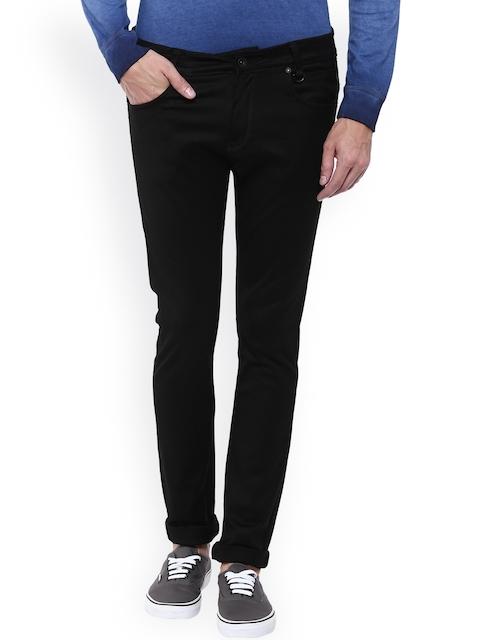 Mufti Men Black Skinny Fit Stretchable Jeans