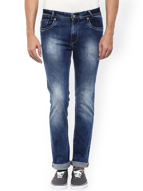 Mufti Men Blue Straight Fit Mid-Rise Clean Look Jeans