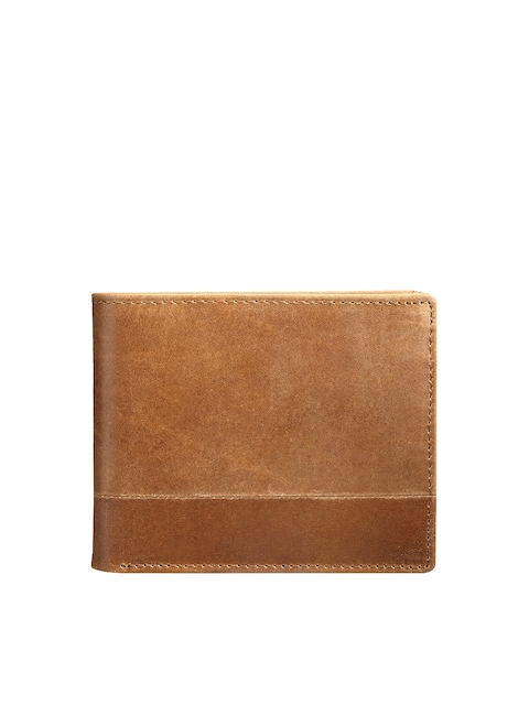Teakwood Leathers Men Tan Brown Genuine Leather Wallet