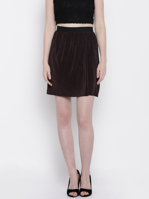 Vero Moda Brown A-Line Skirt